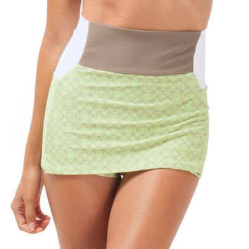 Leucadia Skirted High Waist Bottom - Tiles
