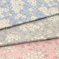 Graceful 50x160cm 3 Colors Japanese Sakura cherry blossom flower Printed 100% Cotton Fabric Floral Fabric For DIY Sewing Bedding