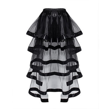 Women Sexy See Through Corset Skirts Crystal Beads Mesh Corset Dresses