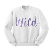Wild Watercolor Crewneck Sweatshirt