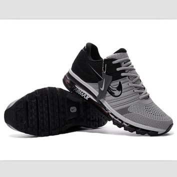 NIKE fashion casual shoes sports shock absorbing running shoes Gray and black