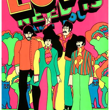 Beatles Yellow Submarine Love Poster 11x17