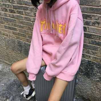 ''Thrasher'' Cool Womens Sweatshirt Hoodies