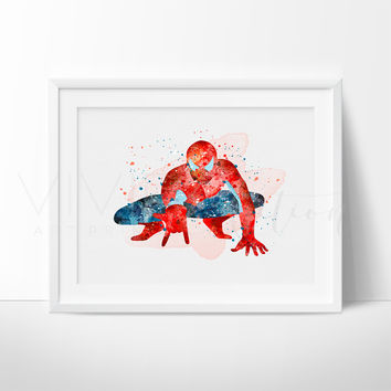 Spiderman Watercolor Art Print