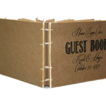 Custom Rustic Wedding Guest Book - Create Your Own - Barn Wedding, Anniversary Party