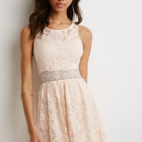 Floral Lace Fit & Flare Dress