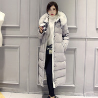 White Duck Down Winter Coat Women's Slim Long Parka Jackets Coats Overcoat Winter Jacket Women Plus Size Thick Down Parkas