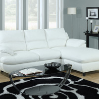 White Bonded Leather / Match Sectional Sofa - Contemporary - Sectional Sofas - by Modern Furniture Warehouse
