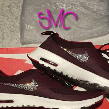 Swarovski Nike Air Max Thea Premium Bling Originals Nike Shoes Custom Shoes Women's Tr