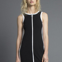 Black Bodycon Zip Dress