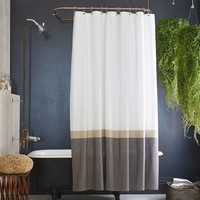 Slate Horizon Stripe Shower Curtain