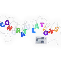 Kikkerland Design Inc » Products » Congratulations String Lights