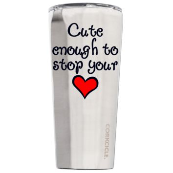 Corkcicle 24 oz Nurse Cute Enough To Stop Your Heart on Stainless Steel Tumbler