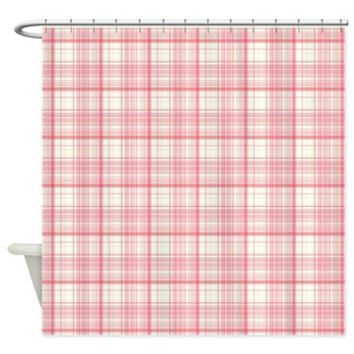 Pink Plaid Shower Curtain> Pink Plaid> Buy Gifts