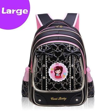 School Backpack Fashion School Bag For Girls Waterproof Bow-knot  For Girl Kids Book Bag Primary Children Backpack Schoolbag AT_48_3