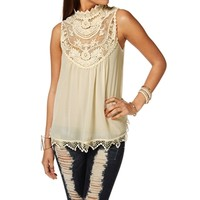 Promo-sleeveless Crochet