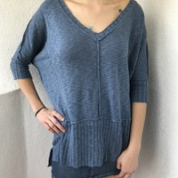 OLLIE OVERSIZE SWEATER- BLUE