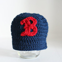Boston Red Sox hat for baby, Newborn hat, Boston Red Sox baby, baby boy hat, baby girl hat, baby gift, photo prop, Newborn to 12 month sizes