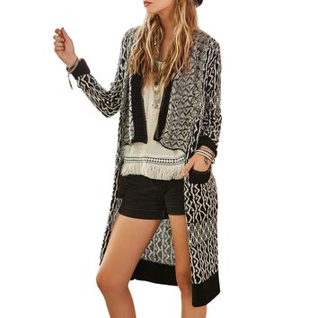 Chicloth Asymmetrical Long Cardigan Coat