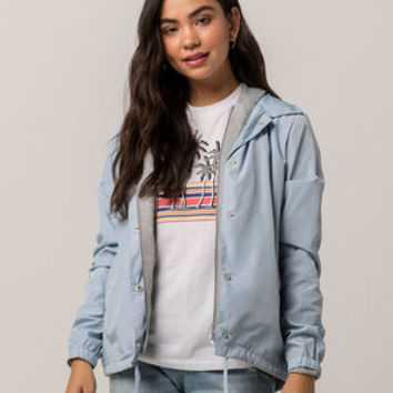 FULL TILT 2-Fer Knit Ice Blue Womens Coach Jacket