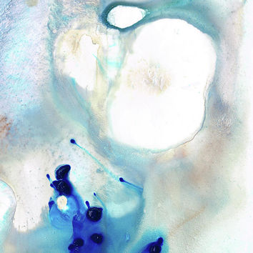 Blue And White Art - A Short Wave - Sharon Cummings