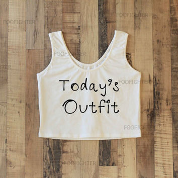 Today's Outfit Shirt Sporty Crop Top Yoga Top Tank Top Midriff Mid Driff Belly Shirt – Size S M