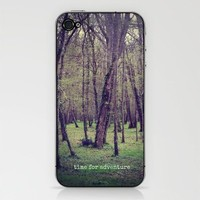 time for adventure iPhone & iPod Skin by phoebe ford reid | Society6