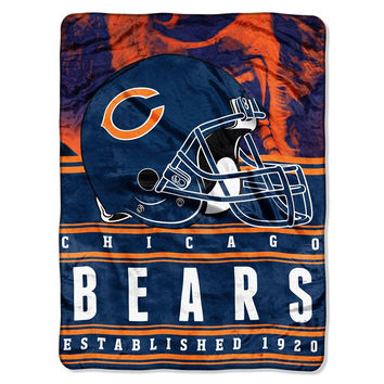 Chicago Bears NFL Silk Touch Throw (Stacked Series) (60inx80in)