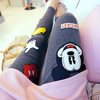 Rushed Cartoon Bamboo Fiber Leggings
