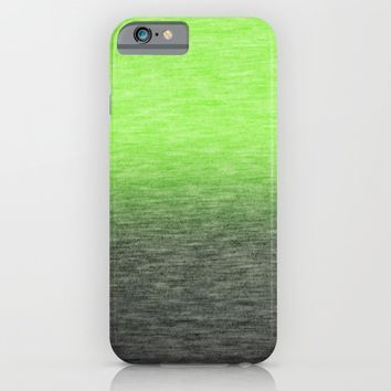 Ombre Lime iPhone & iPod Case by Patterns And Textures