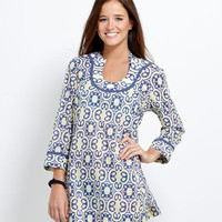 Women's Tunics: Mediterranean Tile Tunic for Women - Vineyard Vines