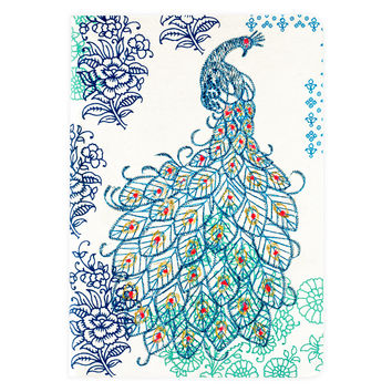 Peacock Handmade Embroidered Journal