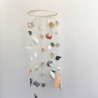 Baby mobile,Seashell mobile,Dreamcatcher mobile,Large mobile,Wind chime mobile,Nursery dreamcatcher,Eco nursery mobile,Crib mobie,