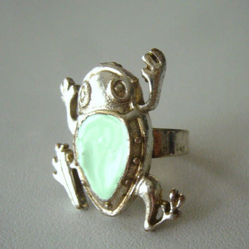 Frog teal ring