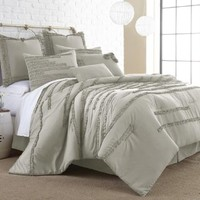 Collette 8-piece Embellished Comforter set Linen King