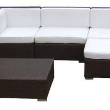 2015 Luxury Living Room Outdoor Wicker Sofa Sectional 7 Piece Couch Set