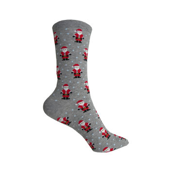 Santas Crew Socks in Gray Heather