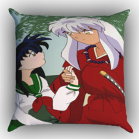 inuyasha and kagome sweet moments Z1544 Zippered Pillows  Covers 16x16, 18x18, 20x20 Inches