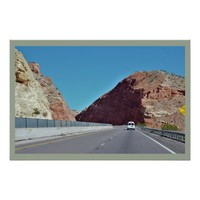 Highway Between Two Mountains Poster