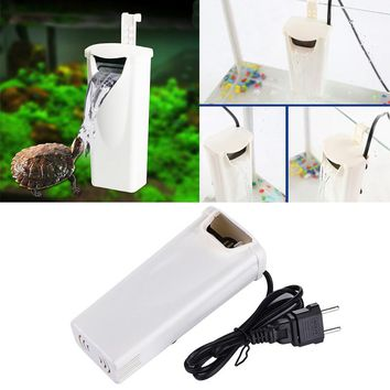 200L/H Waterfall Aquarium Filter with EU Adaptor Tank External Wall-mountable Aquarium Air Pump Aquarium Accessories 220V
