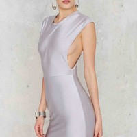 Ahead of the Curve Mini Dress - Silver