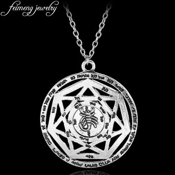 Supernatural Necklace Heptagram Scorpion Key of Solomon Pentacle Seal Pagan Wiccan Jewelry Supernatural Amulet Pendant Necklace