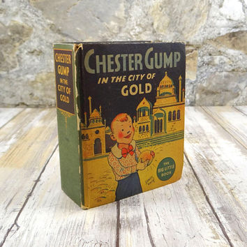 Vintage Little Big Book, Chester Gump In The City Of Gold, Sidney Smith, 1935