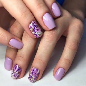 Purple Flower Nail wrap, Floral Nail Art, Nail Design, Water Decals, Nail wrap, Rose, Nail Decorations, Teens, Nails, Womens, Decals,