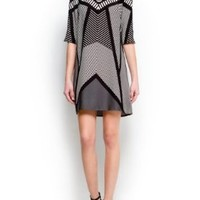 Mango Women's Op-Art Print Dress