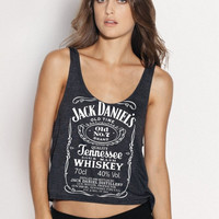 Jack Daniels whiskey Women Ladies' Tank top tee Handmade SCREEN Printing on shirt size L XL - By Joyce9866ML XL - By Joyce9866