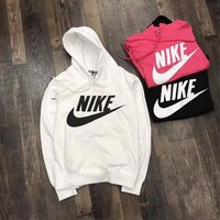 """Nike ""Letter Logo Print Cotton Sports Long Sleeve Women Casual Sweatshirt Shirt Top Blouse T-Shirt Tagre™"