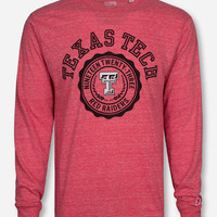 League Texas Tech Laurel Seal Vintage Red Long Sleeve Shirt