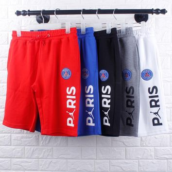 DCCK2 1371 AIR JORDAN Paris Tower Embroidery Letter Printing Sports Shorts