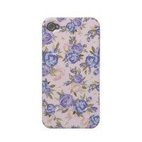 Floral Vintage Case Iphone 4 Case-mate Case from Zazzle.com